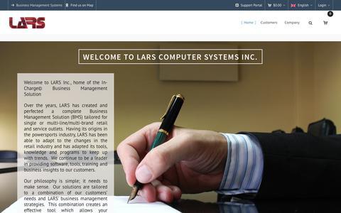 Screenshot of Home Page Terms Page larsinc.com - LARS Inc. – Systèmes de Gestion d'Entreprise - captured July 7, 2017