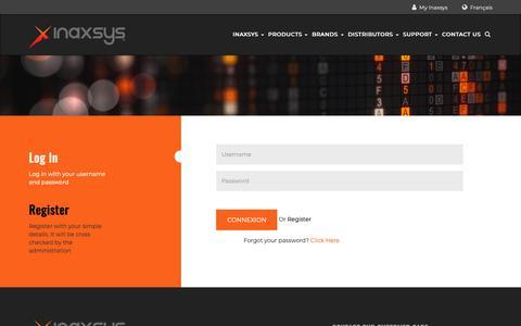 Screenshot of Login Page inaxsys.com - My Inaxsys - captured Dec. 19, 2018