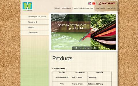 Screenshot of Products Page haxanh.com.vn - Products - Products - Hà Xanh Co., Ltd. - captured Oct. 1, 2014