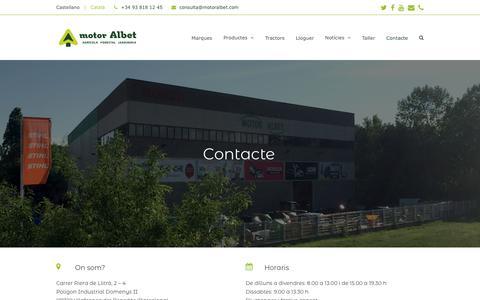 Screenshot of Contact Page motoralbet.com - Contacte – Motor Albet SL · Vilafranca del Penedès - captured Oct. 29, 2018