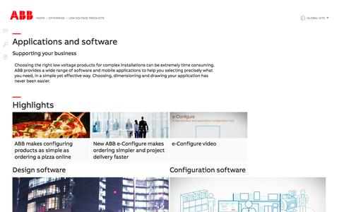 Screenshot of Support Page abb.com - Software and applications   ABB - captured Nov. 9, 2019