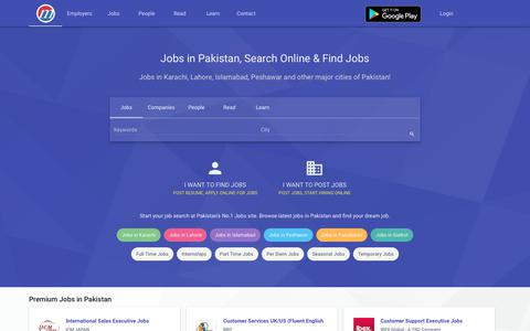 Screenshot of Home Page mustakbil.com - Jobs in Pakistan, Jobs in Karachi, Lahore, Islamabad - Search Online! - captured Sept. 21, 2018