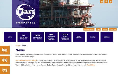 Screenshot of Press Page qualitycompanies.com - News - Quality Companies - captured Feb. 2, 2020