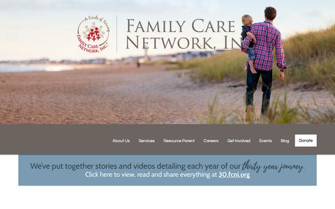 Screenshot of Home Page fcni.org - Home | Family Care Network - captured Oct. 13, 2017