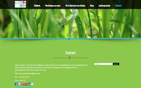 Screenshot of Contact Page mevrouwvanbuiten.nl - Contact  | Mevrouw van Buiten - captured Jan. 10, 2016