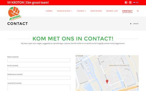 Screenshot of Contact Page kroton.nl - Contact | KROTON - captured Dec. 3, 2016