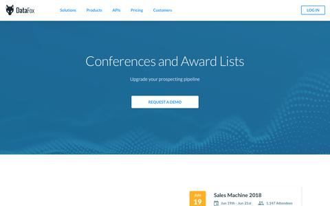 DataFox | Conferences and Award Lists