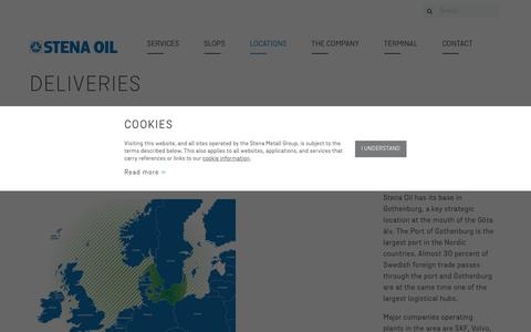 Screenshot of Locations Page stenaoil.com - Locations | Stena Oil - captured Oct. 20, 2018