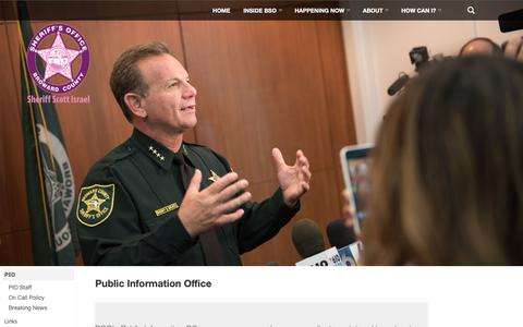 Screenshot of Press Page sheriff.org - PIO |  	 	 	 	Broward County - captured Oct. 6, 2018