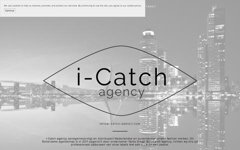 Screenshot of Home Page i-catch-agency.com - i-Catch agency - captured July 25, 2018