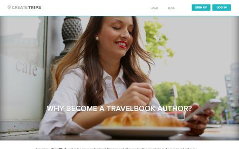 Screenshot of Signup Page createtrips.com - Sign Up as Author - CreateTrips - captured Oct. 28, 2014