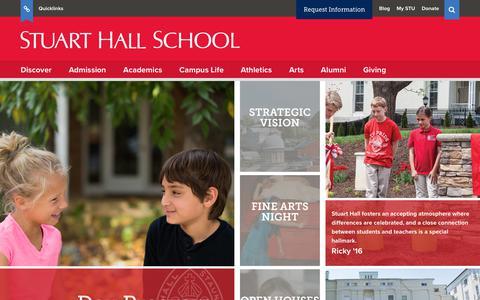 Screenshot of Home Page stuarthallschool.org - Home - Stuart Hall School - captured Nov. 9, 2017