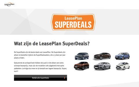 Zeer voordelig leasen met onze Superdeals!