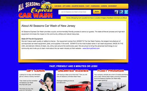Screenshot of About Page allseasonscarwashnj.com - About All Seasons Car Wash of New Jersey - captured Nov. 20, 2016