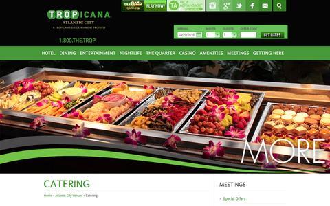 Screenshot of tropicana.net - Tropicana Casino | Meetings |Atlantic City Catering - captured March 20, 2016