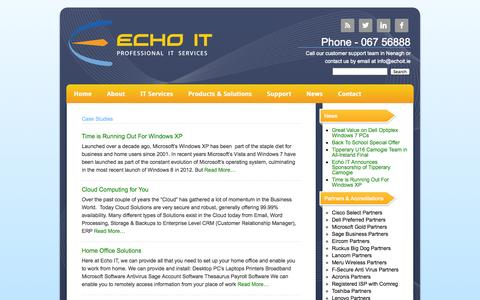Screenshot of Case Studies Page echoit.ie - Case Study | Echo IT - Professional IT Services - captured Oct. 1, 2014