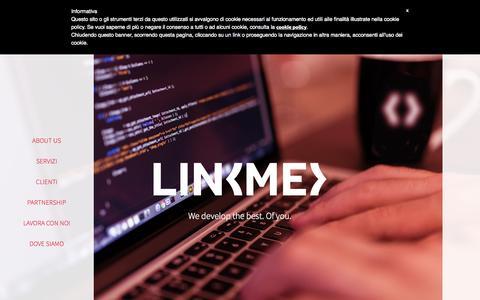 Screenshot of Home Page linkme.it - LinkMe Srl - Javascript Software House - captured Sept. 10, 2015