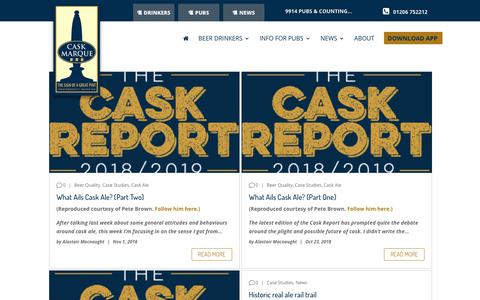 Screenshot of Case Studies Page cask-marque.co.uk - Case Studies Archives - Cask Marque - captured Nov. 4, 2018