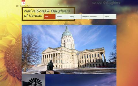 Screenshot of Home Page ksnativesonsanddaughters.com - Native Sons and Daughters of Kansas - captured Oct. 9, 2015