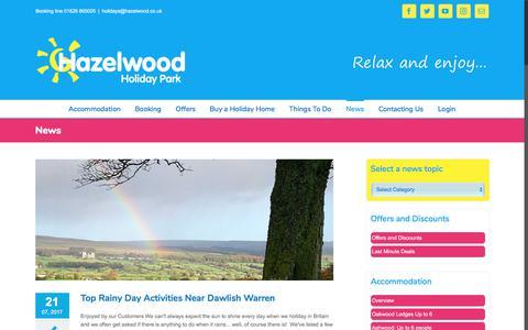 Screenshot of Press Page hazelwood.co.uk - Latest News From Hazelwood Holiday Park - captured July 24, 2017