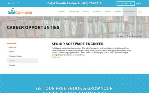 Screenshot of Jobs Page solidcommerce.com - Career Opportunties | Solid Commerce - captured Nov. 18, 2016