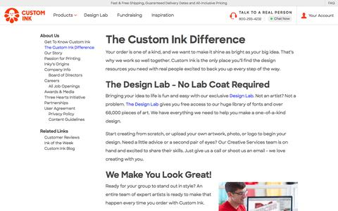 The Custom Ink Difference - What Sets Us Apart