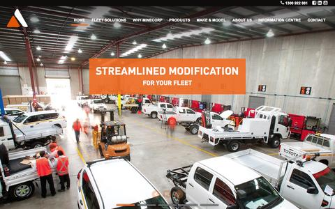 Screenshot of Home Page minecorp.com.au - Fleet Modification Specialists | Minecorp - captured June 20, 2015