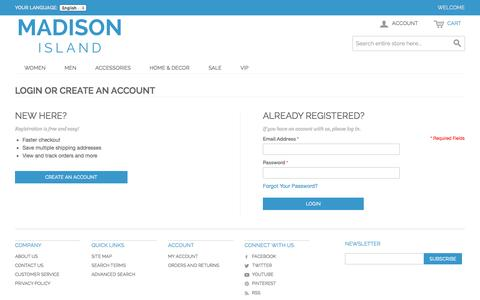 Screenshot of Login Page romanmonarch.com - Customer Login - captured Nov. 4, 2014