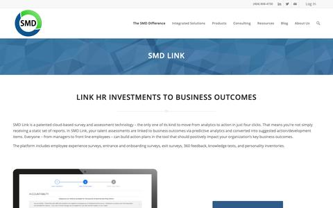 Screenshot of Services Page smdhr.com - How It Works- SMD Link Cloud-Based Survey and Assessment Technology - captured Jan. 22, 2019