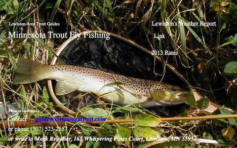 Screenshot of Home Page minnesotatrout.com - Lewiston Area Trout Guides - Minnesota Trout Fly Fishing - captured Oct. 1, 2014