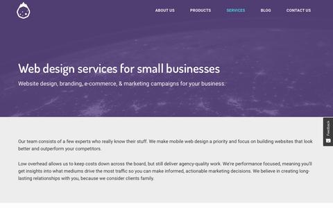 Screenshot of Services Page humblemeteor.com - Mobile Web Design & Marketing | Bucks County | Humble Meteor - captured July 24, 2018