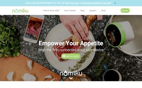 Screenshot of Products Page nomiku.com - Products | Nomiku - captured May 28, 2017