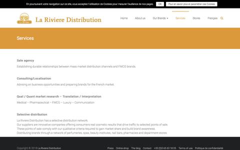 Screenshot of Services Page larivieredistribution.com - Services – La Riviere Distribution - captured July 14, 2018
