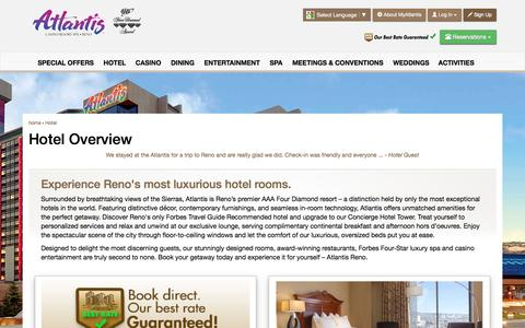 Screenshot of atlantiscasino.com - Reno Luxury Hotel | Rooms & Suites | Atlantis Casino Resort Spa - captured May 26, 2016