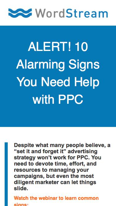 Alert! 10 Alarming Signs You Need Help with PPC