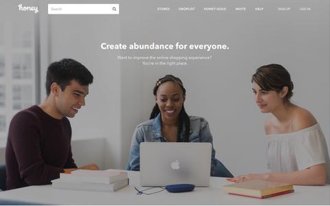 Screenshot of Jobs Page joinhoney.com - Careers | Honey - captured Dec. 28, 2017