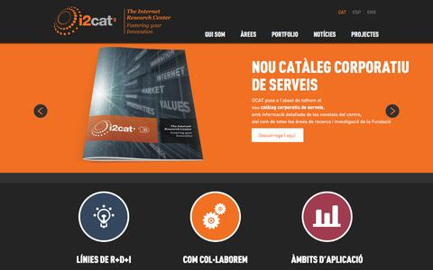 Screenshot of Home Page i2cat.net - i2CAT | - captured Oct. 6, 2014