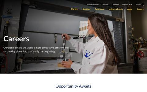 Screenshot of Jobs Page kbr.com - Careers | KBR - captured June 1, 2019