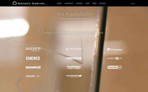 Screenshot of Home Page axivate.com - Axivate Capital - captured Sept. 23, 2014
