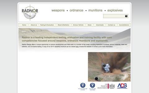 Screenshot of Home Page radnor.org.uk - Radnor Range - captured Oct. 7, 2014