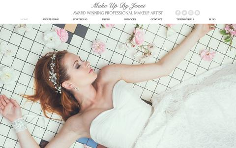 Screenshot of Home Page makeupbyjenni.co.uk - Make Up By Jenni Award Winning Professional Makeup Artist - captured May 27, 2017