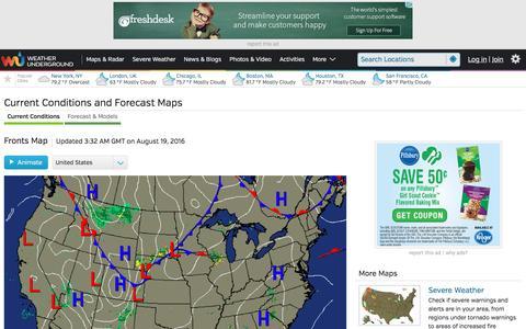 Screenshot of Maps & Directions Page wunderground.com - Maps and Radar | Weather Underground - captured Aug. 19, 2016