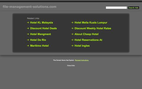 Screenshot of Services Page file-management-solutions.com - File-Management-Solutions.com - captured Sept. 30, 2014