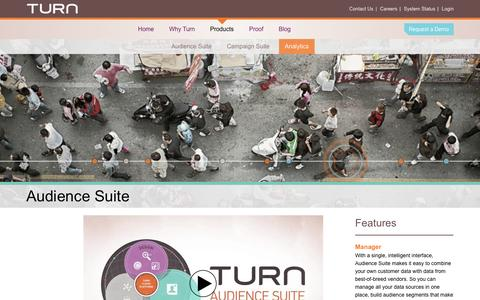 Screenshot of Products Page turn.com - | Turn - captured Sept. 17, 2014