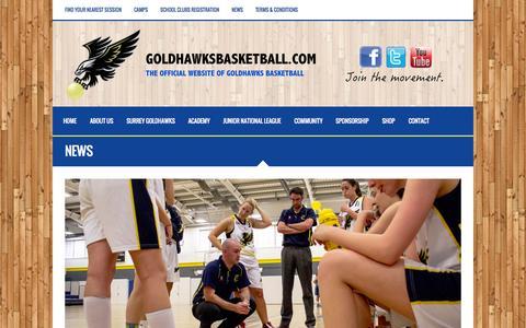 Screenshot of Press Page goldhawksbasketball.com - News - Goldhawks Basketball - captured Oct. 28, 2014