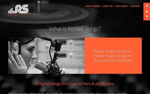 Screenshot of About Page rocketsongs.com - About Rocket Songs - captured Oct. 29, 2014