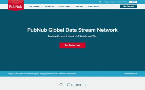 Screenshot of Home Page pubnub.com - Build Realtime Apps & Take Websockets To The Next Level | PubNub - captured Oct. 2, 2015
