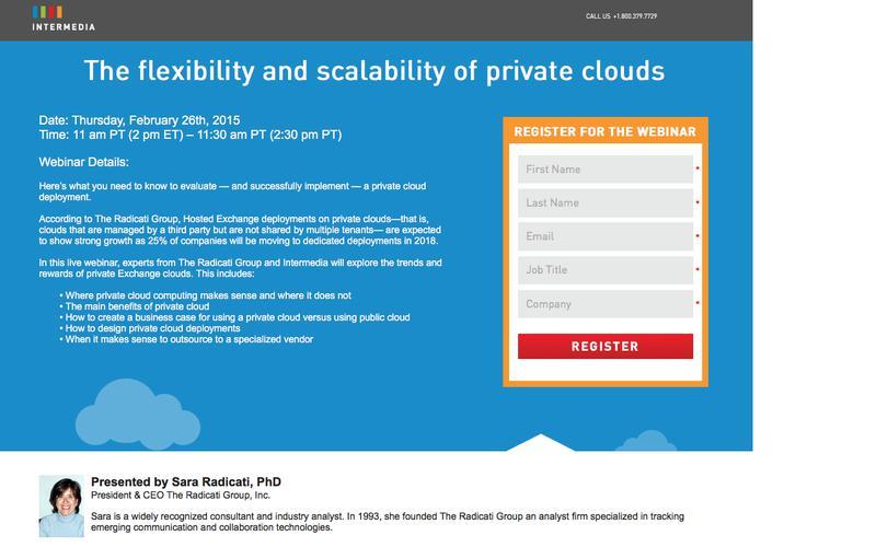 Intermedia Webinar|Private Cloud Webinar with Radicati