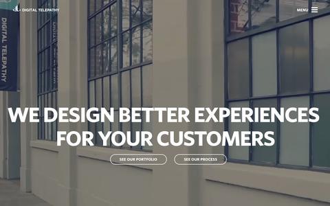 Screenshot of Home Page dtelepathy.com - Customer Experience & UX Design Agency | Digital Telepathy - captured Feb. 23, 2016