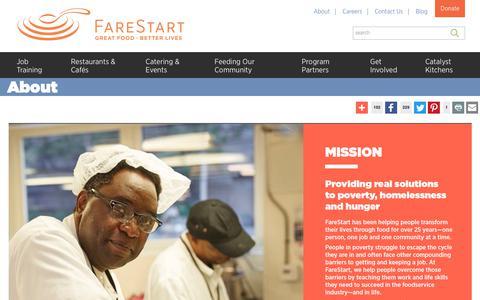 Screenshot of About Page farestart.org - FareStart Seattle   We Transform Lives - captured Nov. 6, 2018